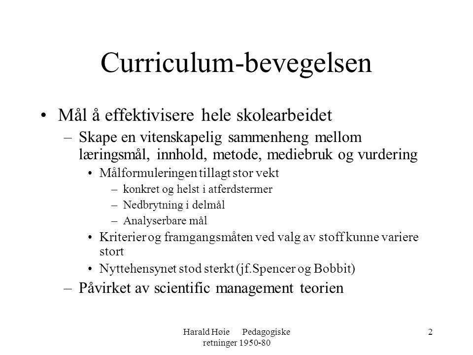 Curriculum-bevegelsen