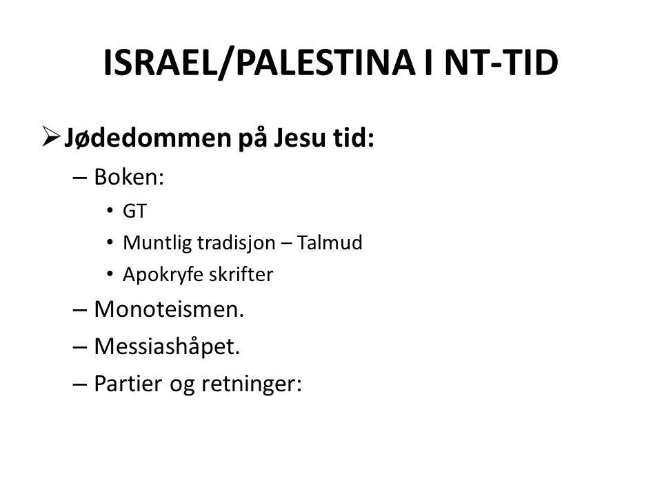 ISRAEL/PALESTINA I NT-TID