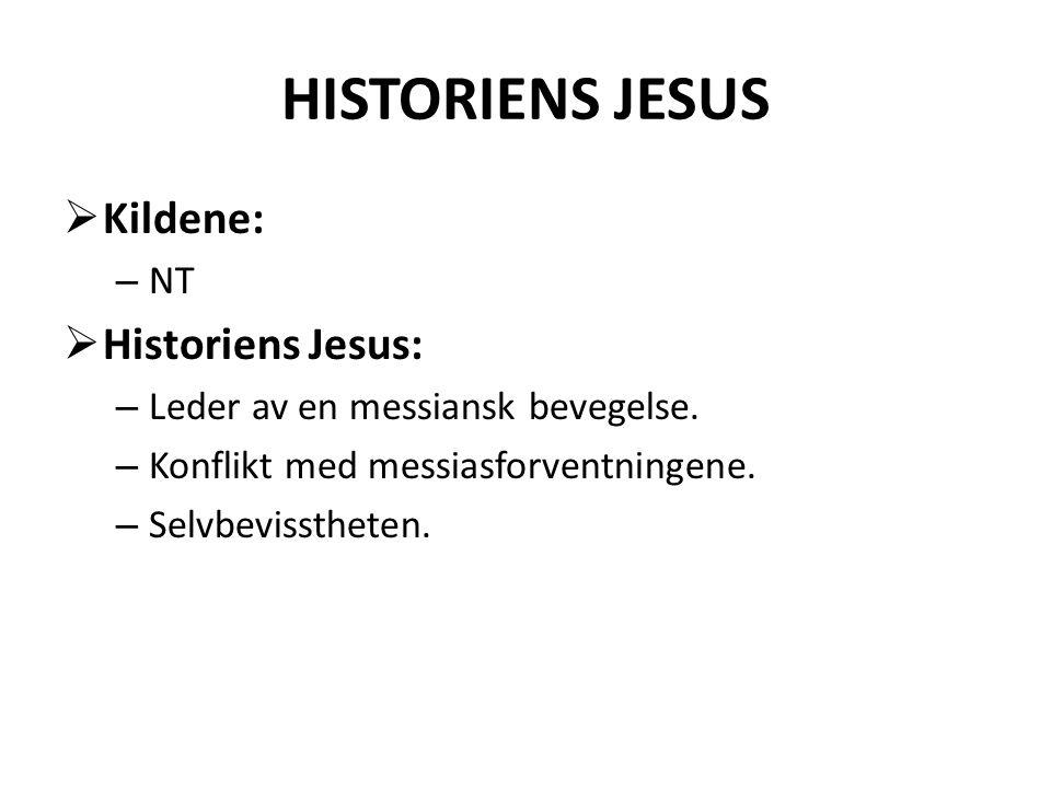 HISTORIENS JESUS Kildene: Historiens Jesus: NT