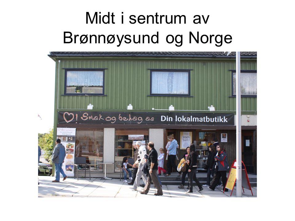 Midt i sentrum av Brønnøysund og Norge