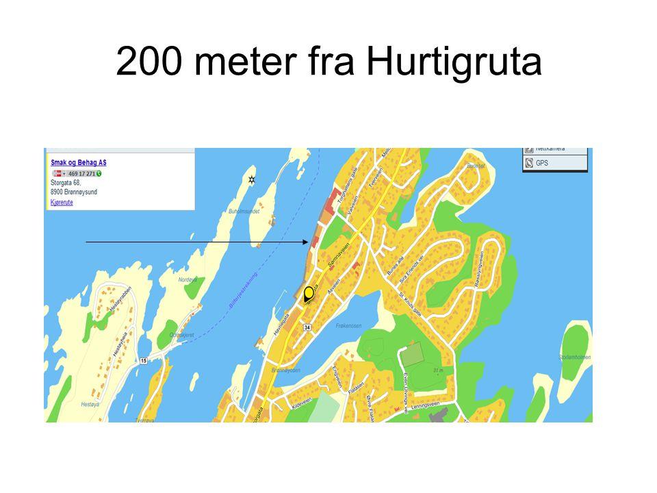 200 meter fra Hurtigruta