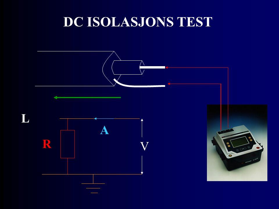 DC ISOLASJONS TEST L R V A