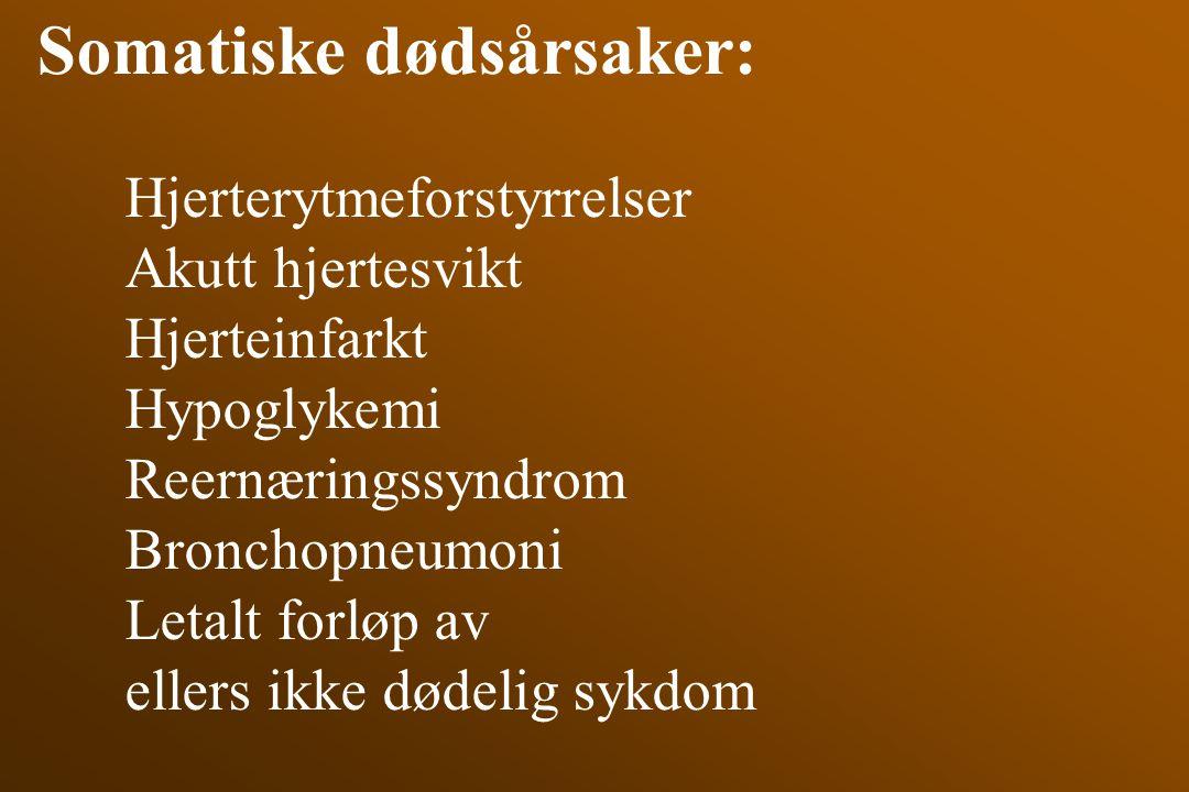 Somatiske dødsårsaker: