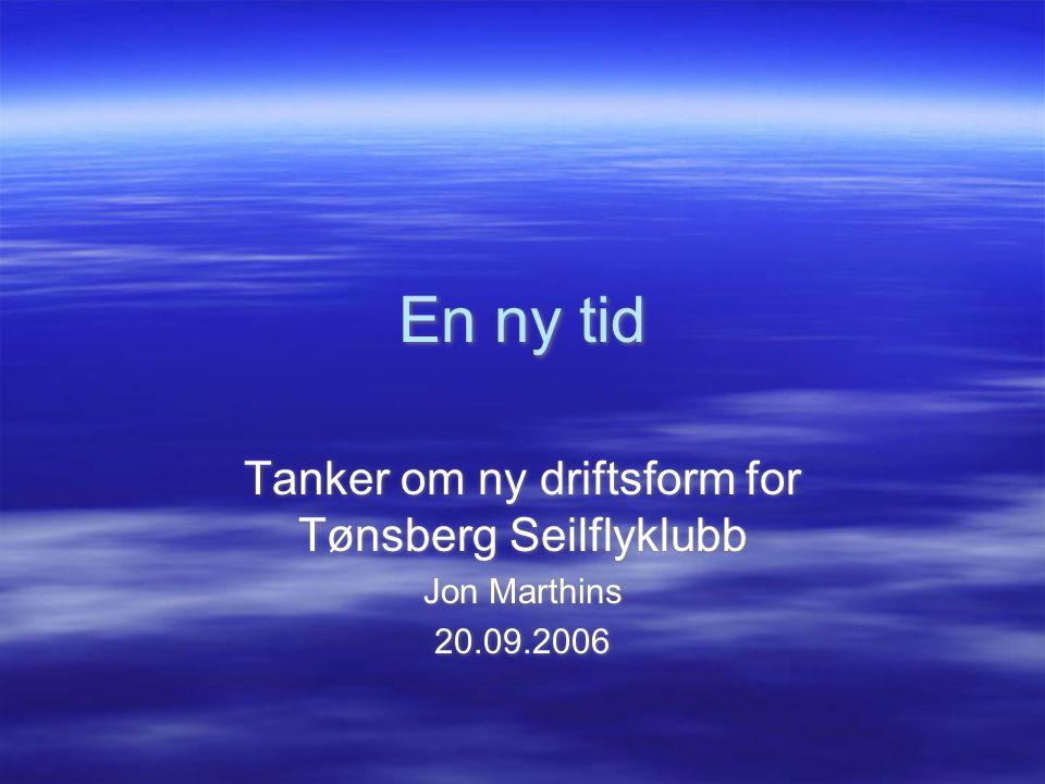 Tanker om ny driftsform for Tønsberg Seilflyklubb