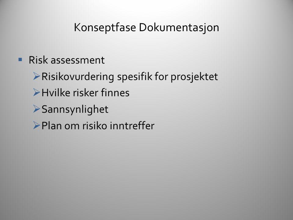 Konseptfase Dokumentasjon