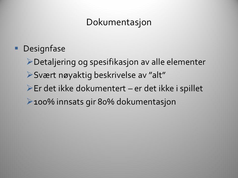 Dokumentasjon Designfase