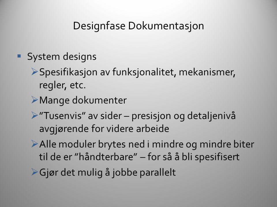Designfase Dokumentasjon