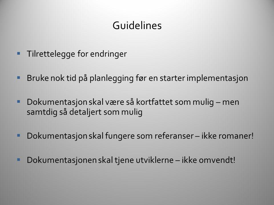 Guidelines Tilrettelegge for endringer