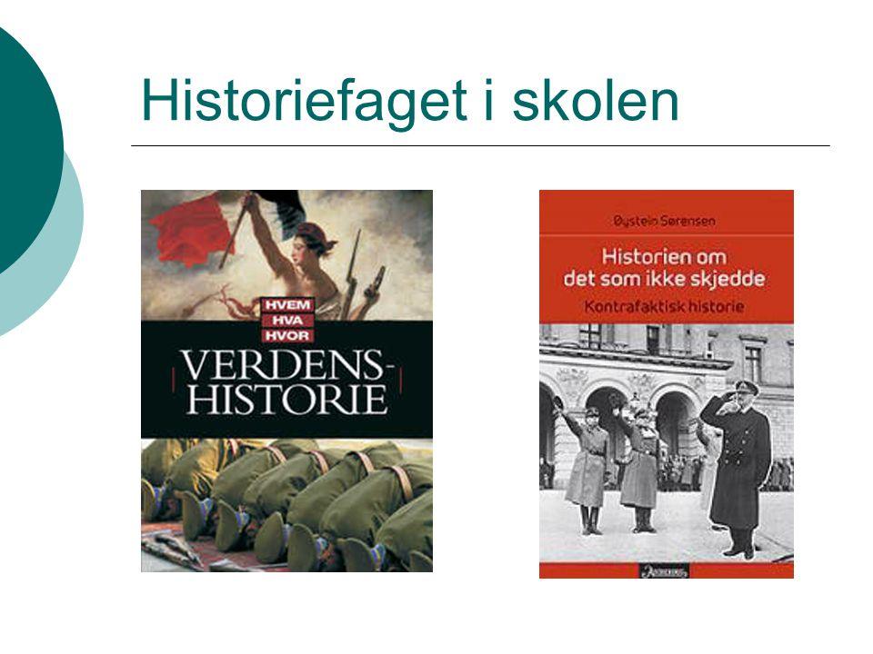 Historiefaget i skolen