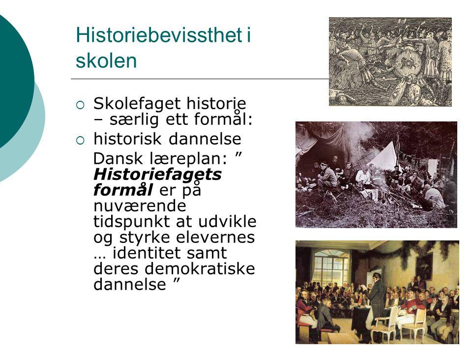 Historiebevissthet i skolen