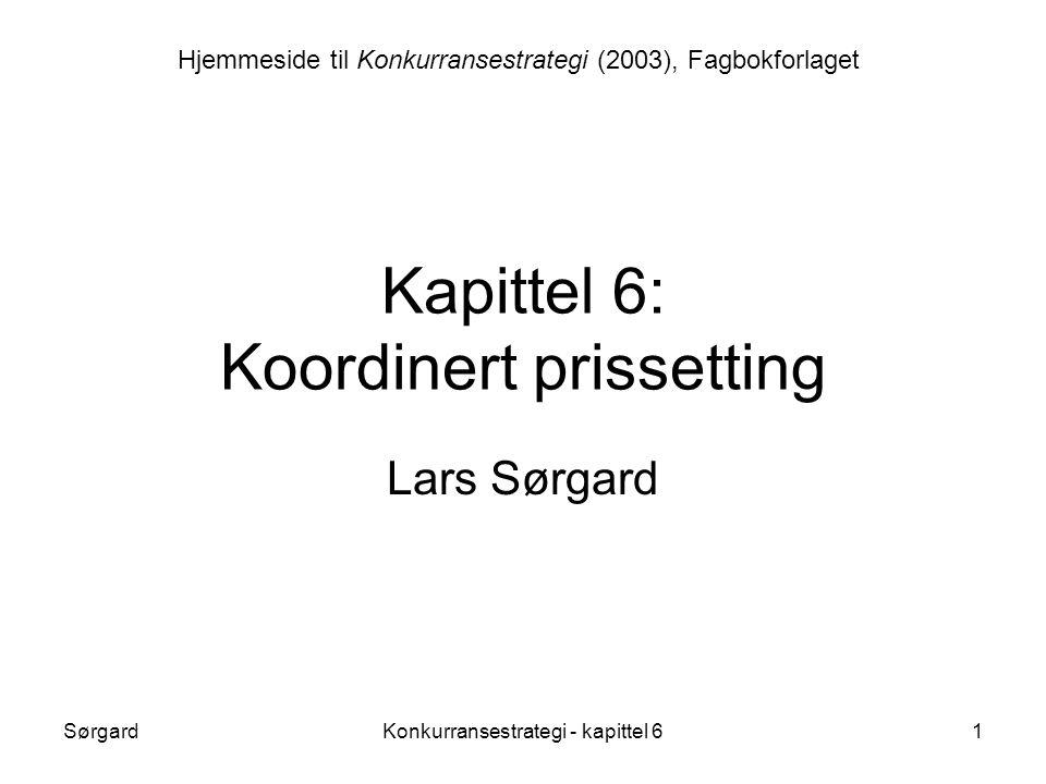 Kapittel 6: Koordinert prissetting