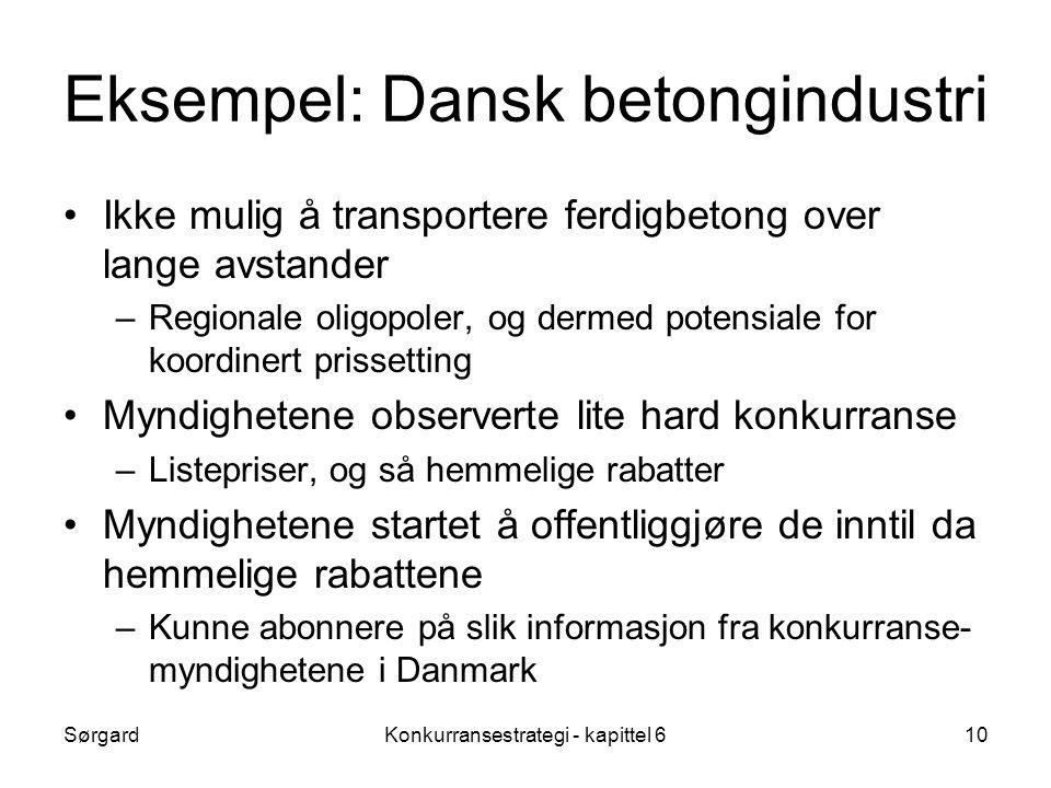 Eksempel: Dansk betongindustri
