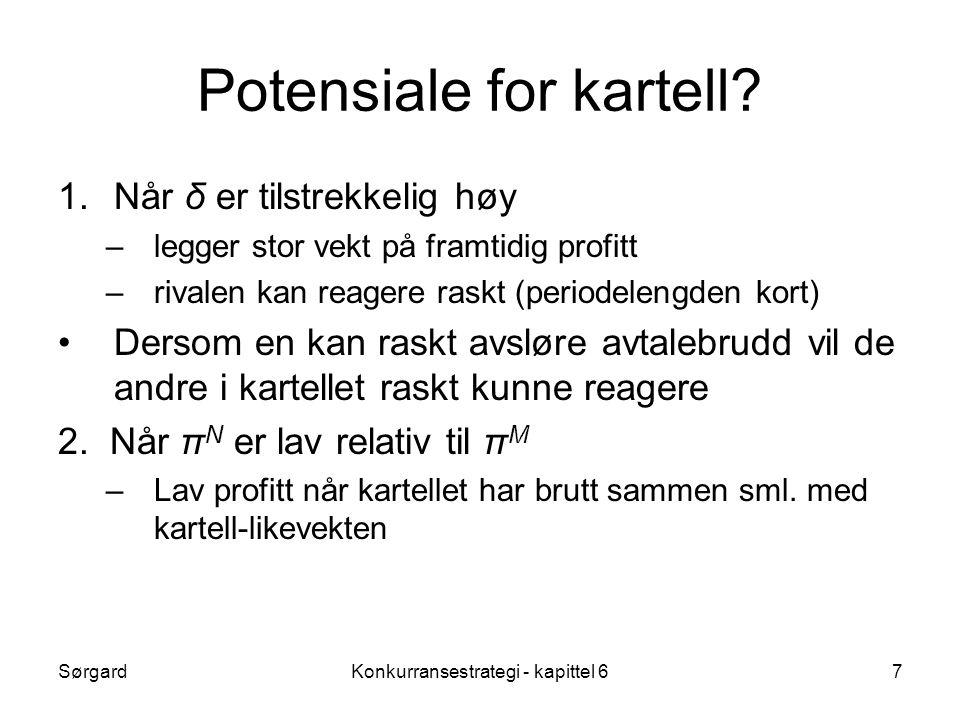 Potensiale for kartell