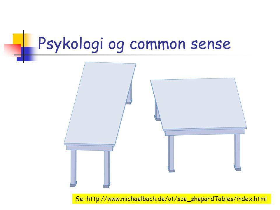 Psykologi og common sense