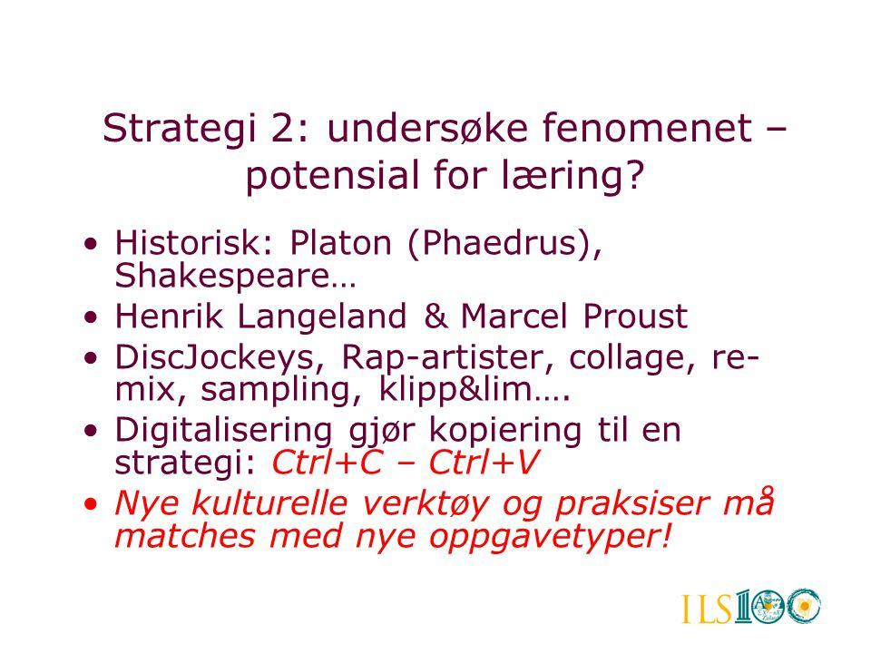 Strategi 2: undersøke fenomenet – potensial for læring
