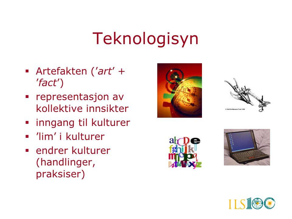 Teknologisyn Artefakten ('art' + 'fact')