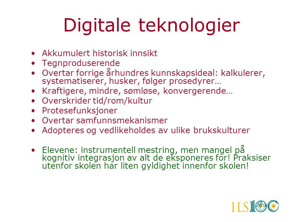 Digitale teknologier Akkumulert historisk innsikt Tegnproduserende