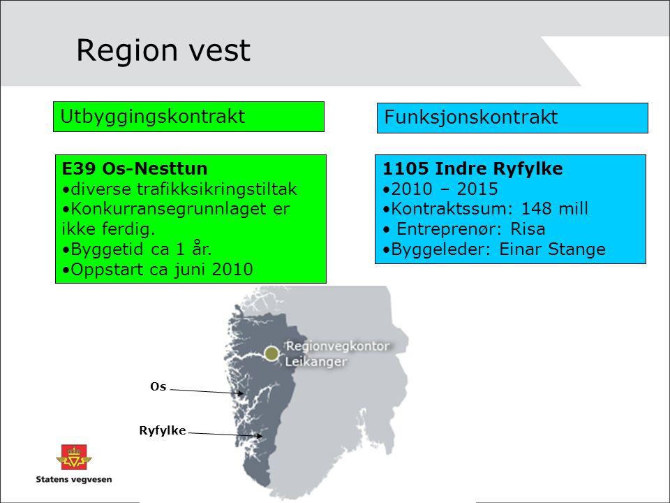 Region vest Utbyggingskontrakt Funksjonskontrakt E39 Os-Nesttun