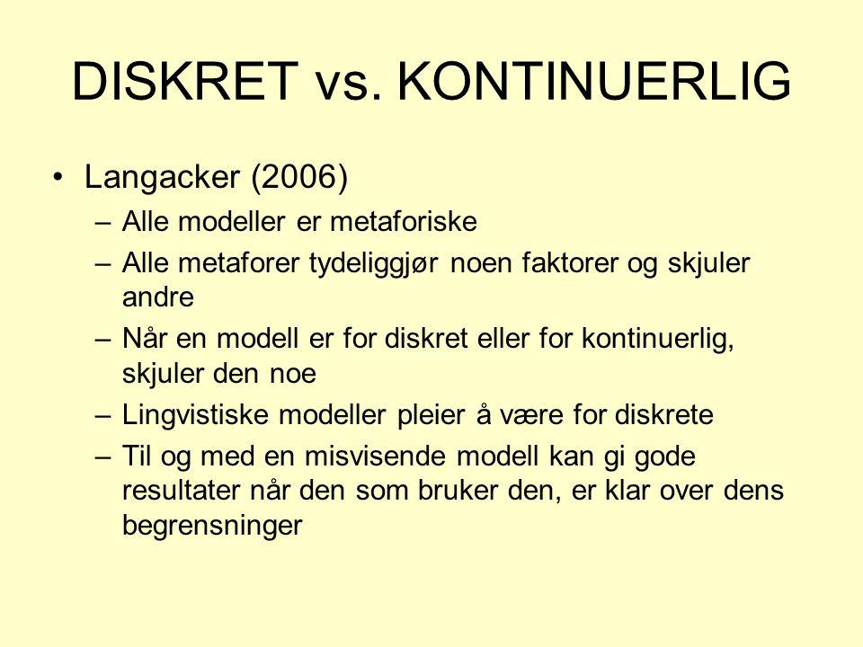 DISKRET vs. KONTINUERLIG