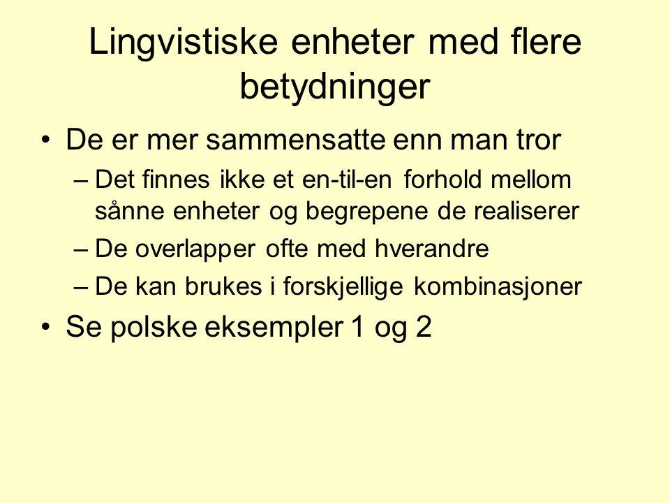 Lingvistiske enheter med flere betydninger