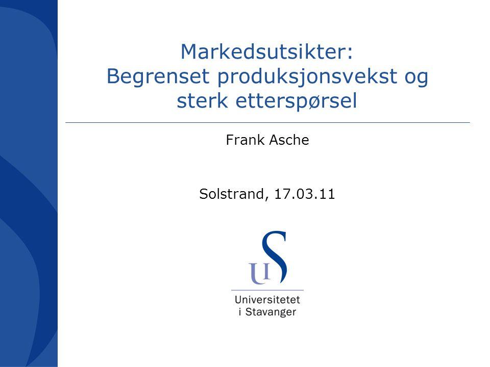 Markedsutsikter: Begrenset produksjonsvekst og sterk etterspørsel