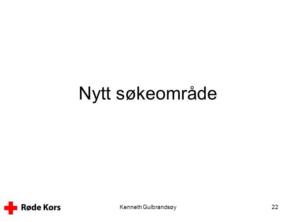 Nytt søkeområde Kenneth Gulbrandsøy