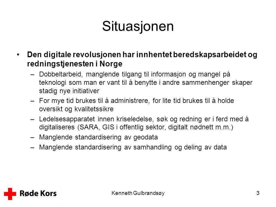 Situasjonen Den digitale revolusjonen har innhentet beredskapsarbeidet og redningstjenesten i Norge.