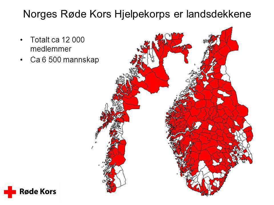 Norges Røde Kors Hjelpekorps er landsdekkene