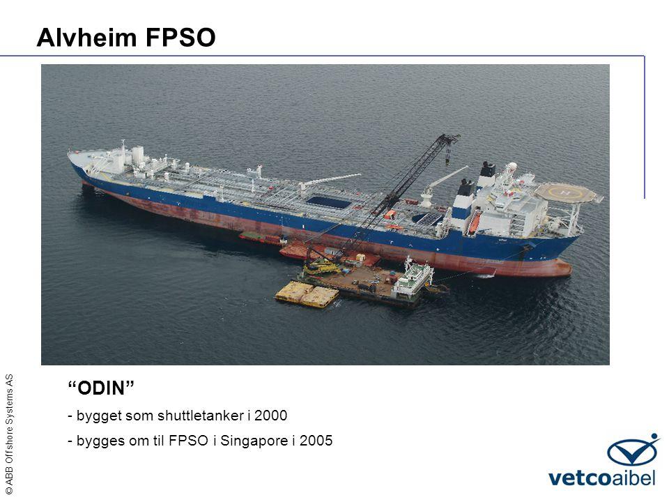Alvheim FPSO ODIN - bygget som shuttletanker i 2000