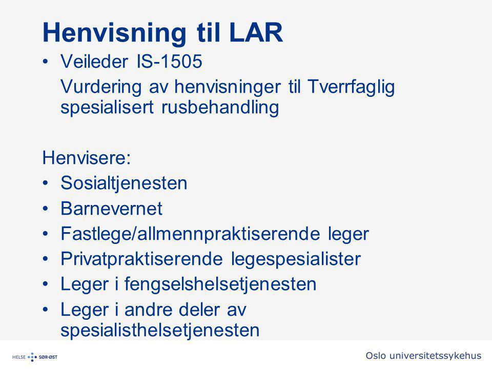Henvisning til LAR Veileder IS-1505