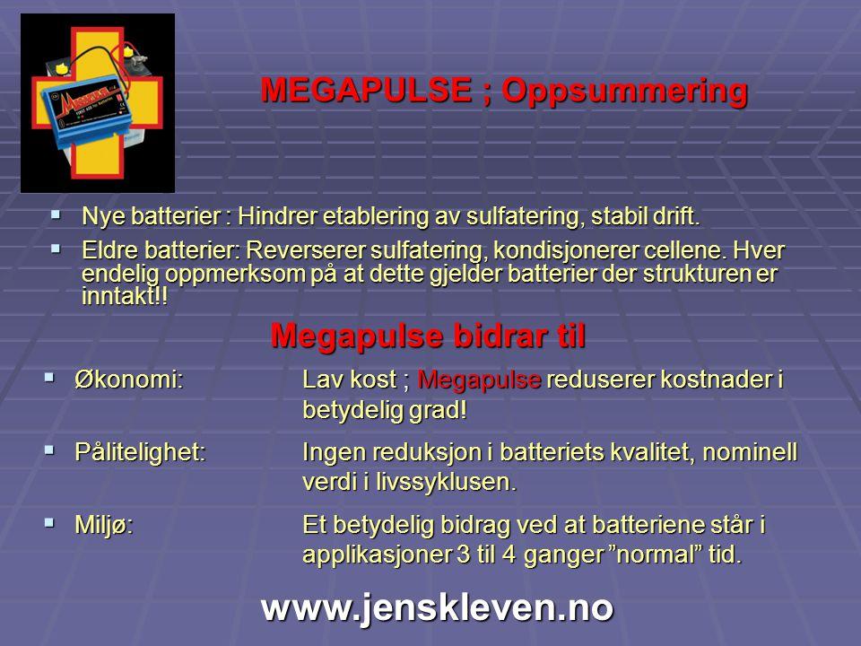 MEGAPULSE ; Oppsummering