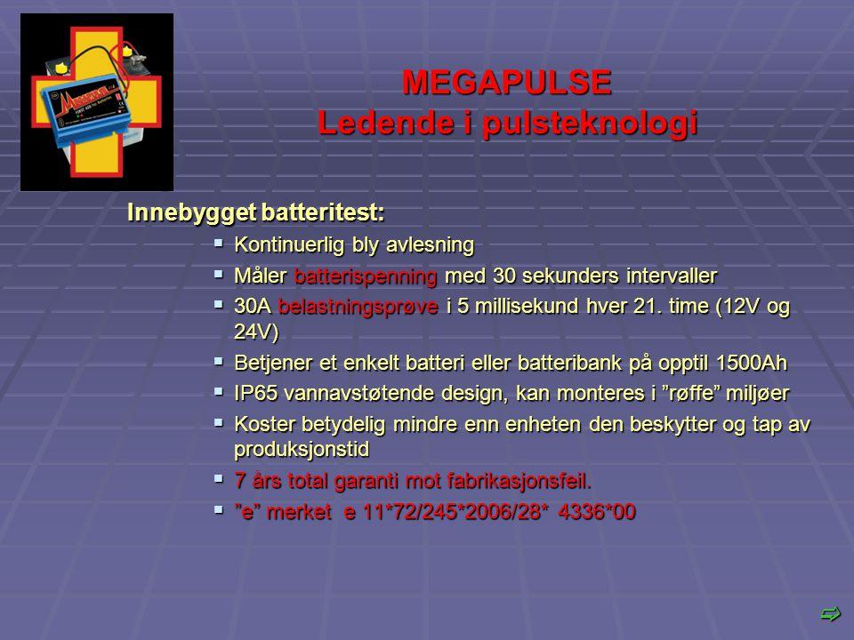 MEGAPULSE Ledende i pulsteknologi