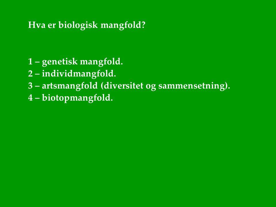 Hva er biologisk mangfold
