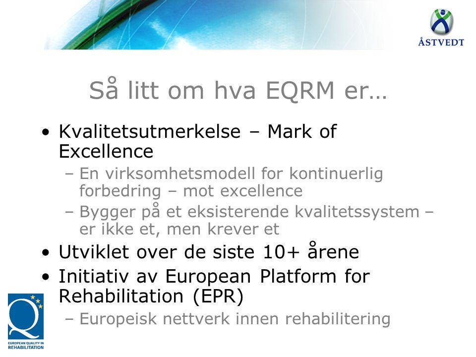 Så litt om hva EQRM er… Kvalitetsutmerkelse – Mark of Excellence