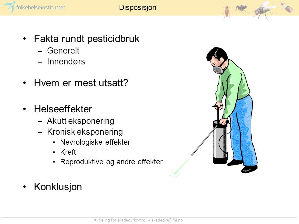 Fakta rundt pesticidbruk