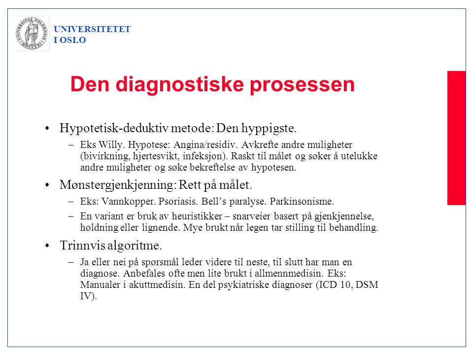 Den diagnostiske prosessen