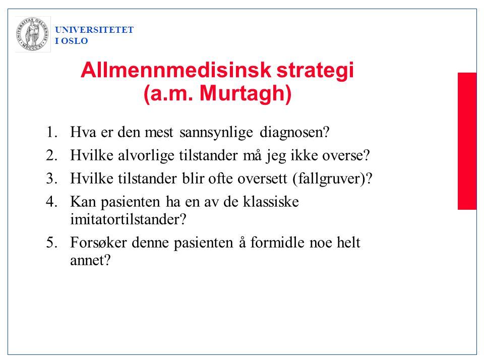 Allmennmedisinsk strategi (a.m. Murtagh)