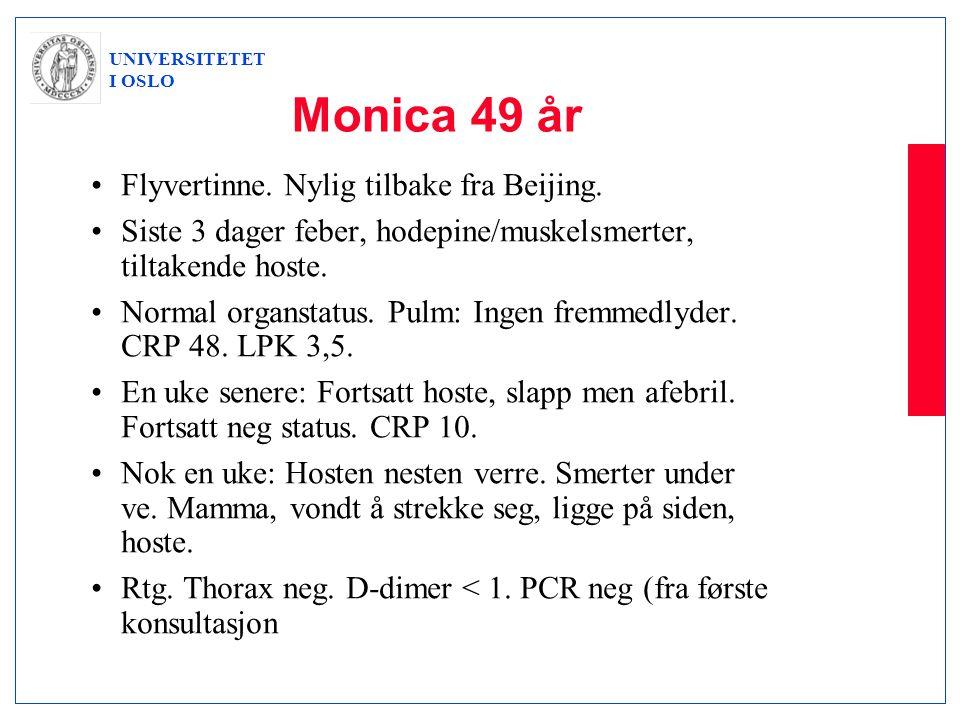 Monica 49 år Flyvertinne. Nylig tilbake fra Beijing.