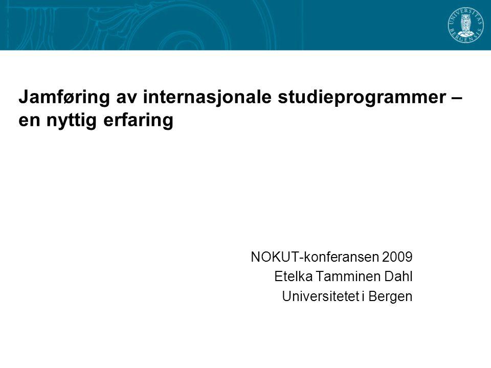 Jamføring av internasjonale studieprogrammer – en nyttig erfaring