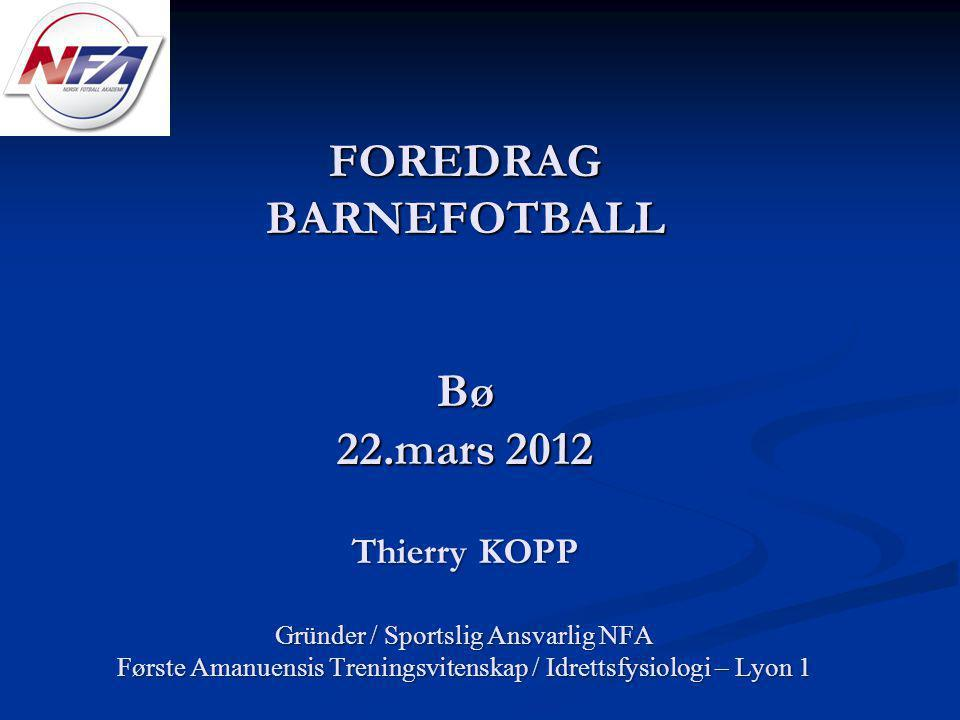 FOREDRAG BARNEFOTBALL Bø 22