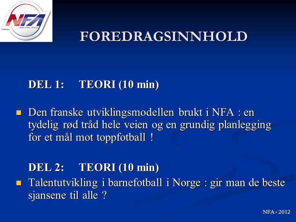 FOREDRAGSINNHOLD DEL 1: TEORI (10 min)