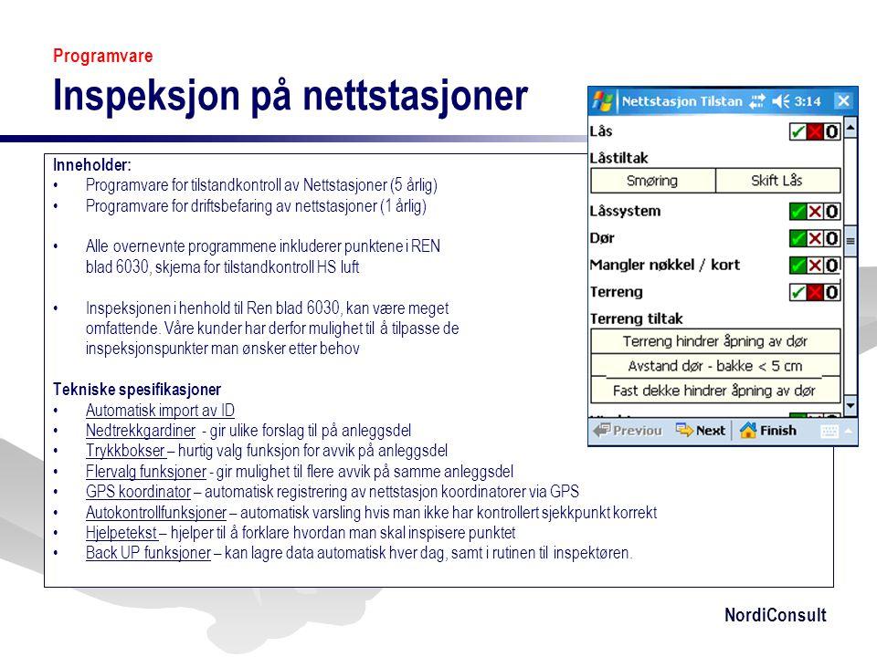 Programvare Inspeksjon på nettstasjoner