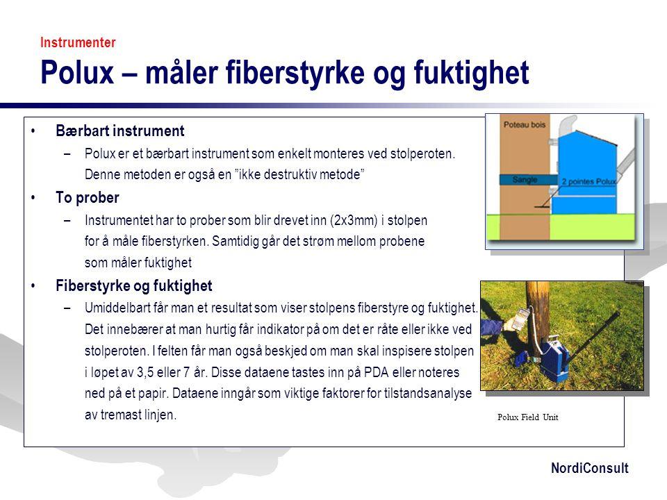 Instrumenter Polux – måler fiberstyrke og fuktighet