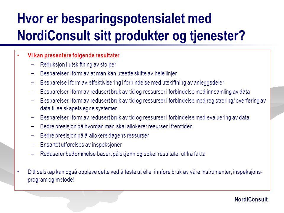 Hvor er besparingspotensialet med NordiConsult sitt produkter og tjenester