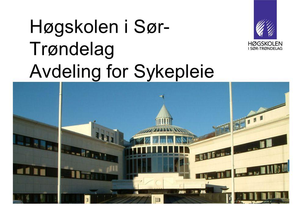 Høgskolen i Sør-Trøndelag Avdeling for Sykepleie