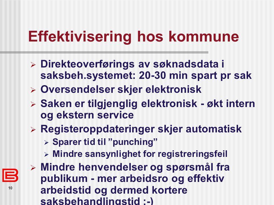 Effektivisering hos kommune