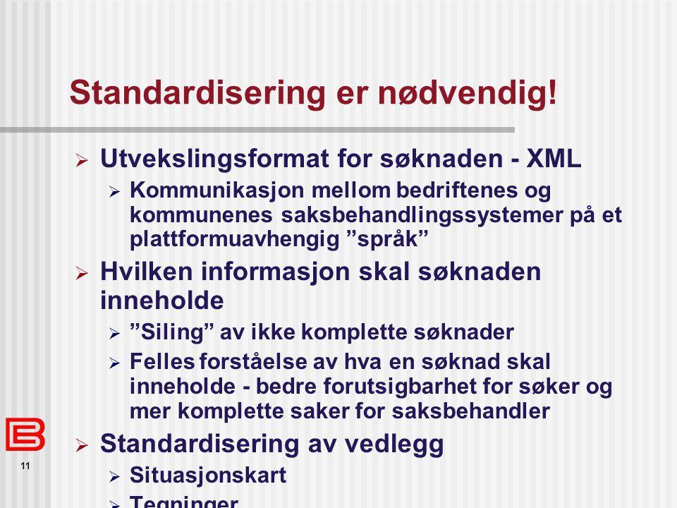 Standardisering er nødvendig!