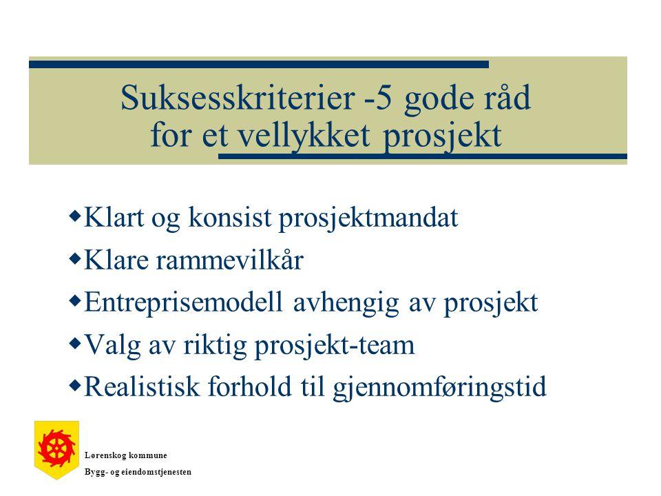 Suksesskriterier -5 gode råd for et vellykket prosjekt