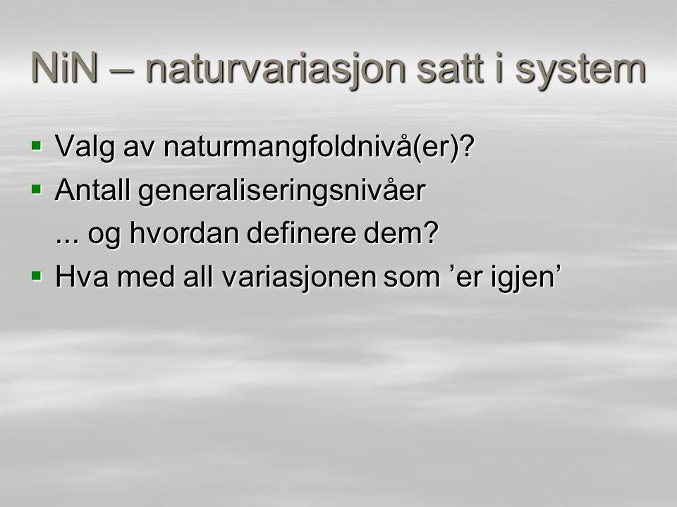 NiN – naturvariasjon satt i system