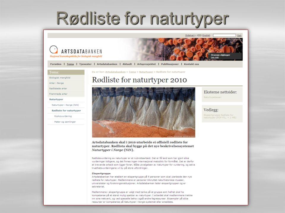Rødliste for naturtyper
